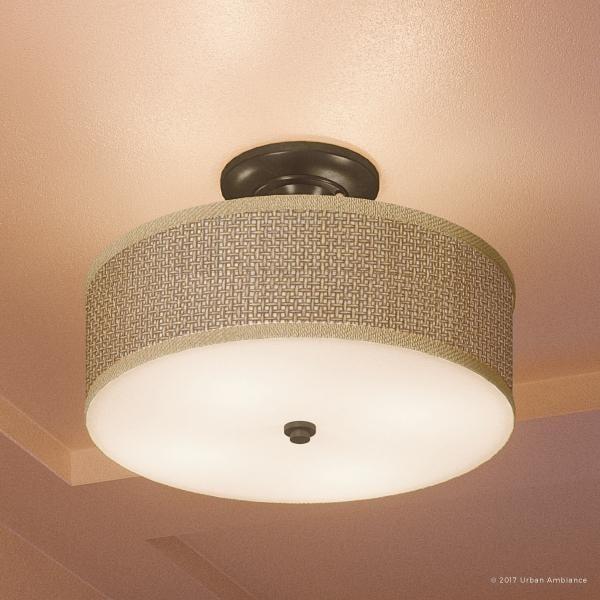 Luxury Craftsman Semi Flush Ceiling Light 12 5 H X 17 W