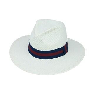 ChicHeadwear Womens Lala Paper Hat w/ Stitch - One size