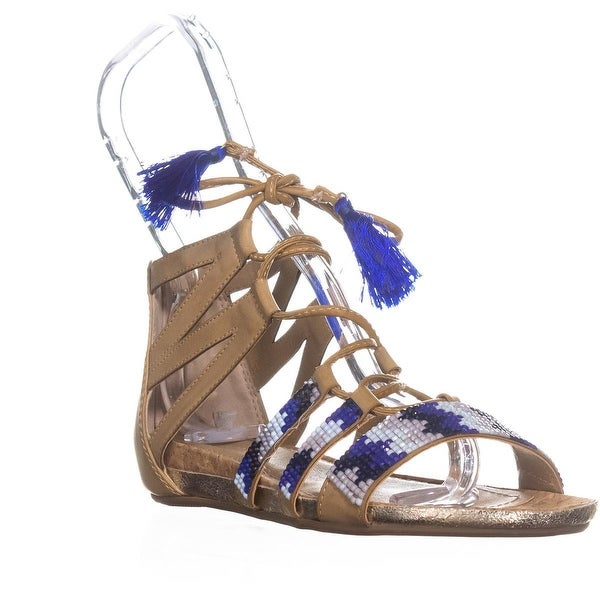 Kenneth Cole REACTION Lost Look 2 Gladiator Sandals, Almond - 5 us / 35 eu