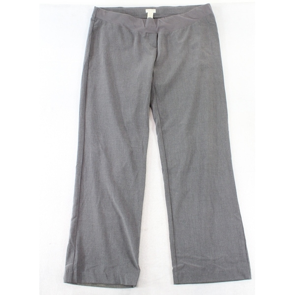 426861c8b4 Shop Three Seasons Gray Women s Size XXL Plus Maternity Dress Pants - On  Sale - Free Shipping On Orders Over  45 - Overstock - 26898843