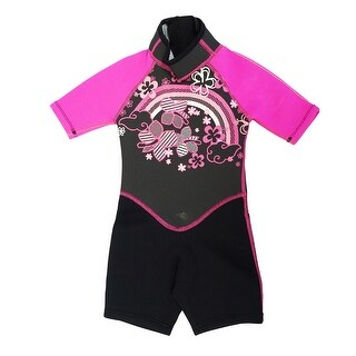 Kiddi Choice Kids 2.5mm Neoprene Short Sleeve Wetsuit Black/Pink
