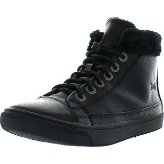 Blowfish Womens Pikel Lace Up Boots With Fur Trim