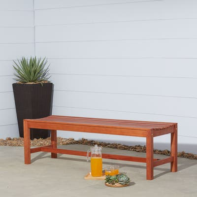 Surfside Eco-friendly 5-foot Wood Backless Garden Bench by Havenside Home