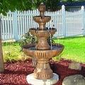 Sunnydaze Flower Blossom 3-Tier Water Fountain - Thumbnail 0