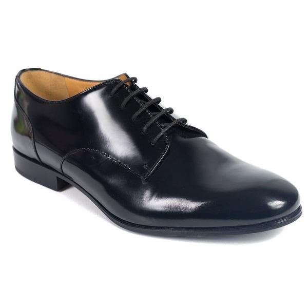 19b78bec6f9f1 Shop Valentino Garavani Mens Black Lace Patent Leather Derby Oxfords ...