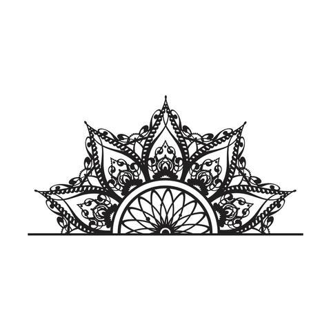 Half Mandala Headboard Wall Decal