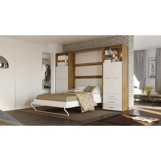 Invento Vertical Murphy Bed, Queen Size with 2 cabinets