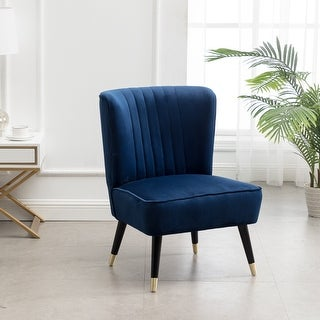 Link to Elon Contemporary Velvet Upholstered Accent Chair Similar Items in Living Room Chairs
