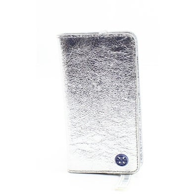 low priced e7e6b 199c3 Tory Burch NEW Silver Scallop T Folio Iphone 6 Cardholder Phone Wallet