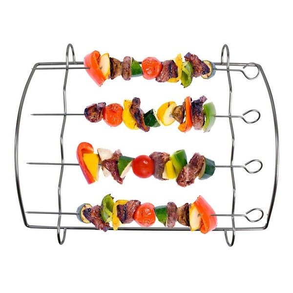 Stainless Steel Kabob Grill Rack - 15.0 in. x 12.0 in. x 15.0 in.