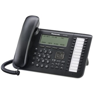 "Refurbished ""Panasonic KX-NT546 Black 6 Line IP Phone"""