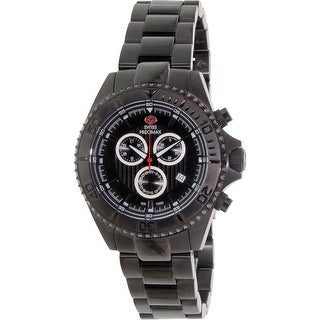 Swiss Precimax Men's Maritime Pro SP12193 Black Stainless-Steel Dress Watch