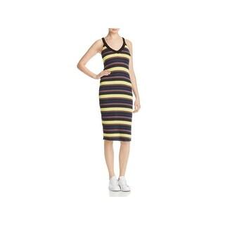 Splendid Womens Tank Dress Stripe Ribbed