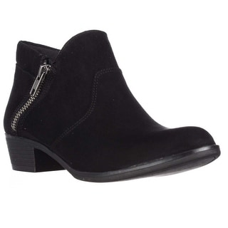 AR35 Abby Side Zip Short Ankle Boots - Black