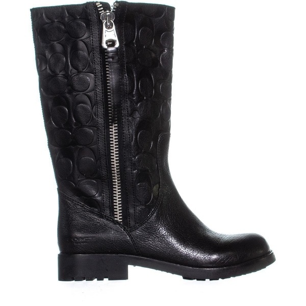 Coach Valentine Zippered Mid-Calf Boots