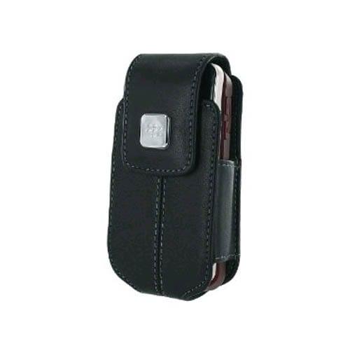 BlackBerry - Flip Leather Swivel Holster for BlackBerry 8220, 8230 Pearl - Black