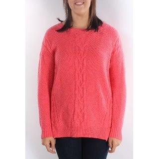 TOMMY HILFIGER 1203 Womens 1177 $80 Pink Scoop Neck 3/4 Sleeve Sweater XL B+B