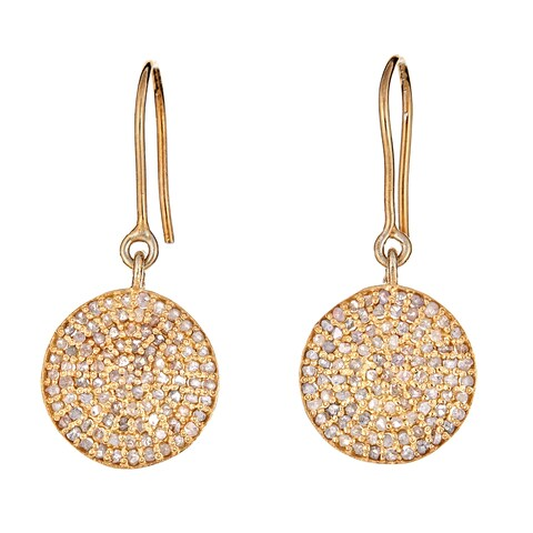 25 mm Pave Diamond Disk earring