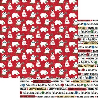 "O Canada Christmas Double-Sided Cardstock 12""X12""-Polar Games"