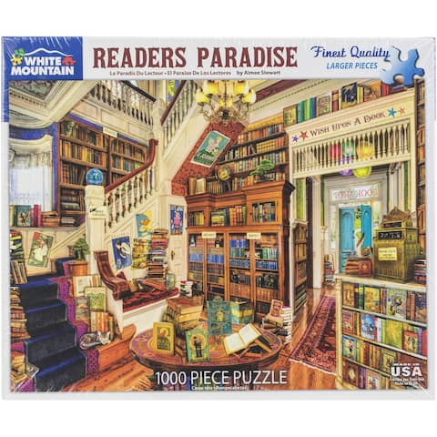 """Jigsaw Puzzle 1000 Pieces 24""""X30""""-Readers Paradise"""
