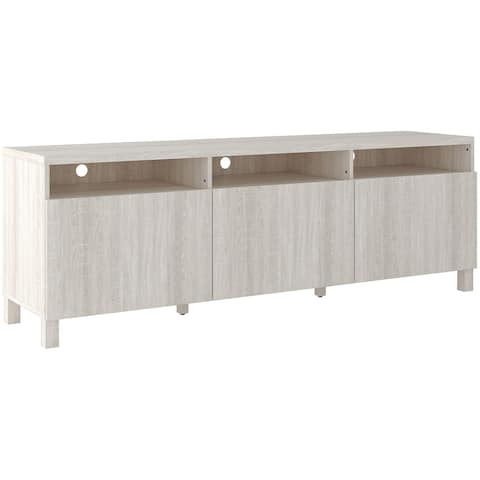Dorrinson Extra Large TV Stand, White - 65 inches in width