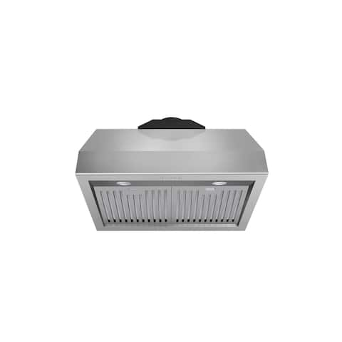 30 Inch Professional Wall Mounted Range Hood, 16.5 Inches Tall