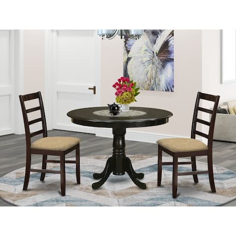 3-piece Dining Set Includes Small Dining Table and 2 Dinette Chairs