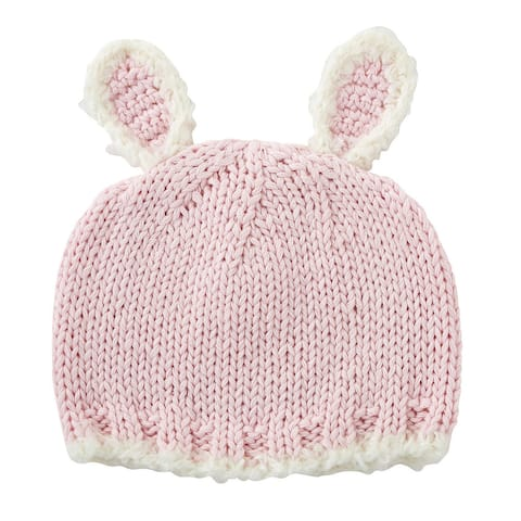 Pink Bunny Knit Cap - 6-12 months - One Size