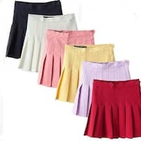 Multi-color Knife Pleated Skirts