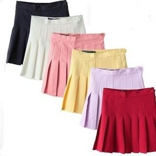 Multi-color Knife Pleated Skirts