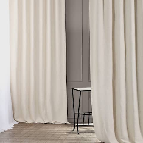 Exclusive Fabrics Oat Cream Bellino Single Panel Blackout Curtain