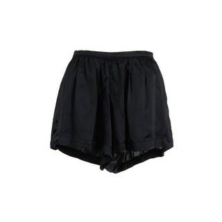 PJK Womens Silk Pleated High-Waist Shorts - XS
