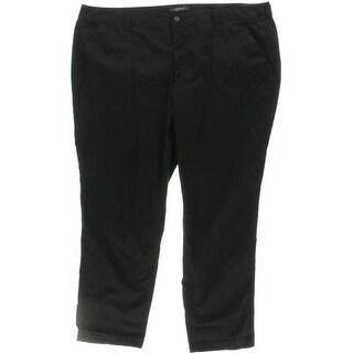Lauren Ralph Lauren Womens Plus Cropped Pants Cargo Deep Pockets