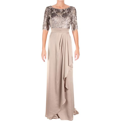 Adrianna Papell Womens Evening Dress Special Occasion Satin