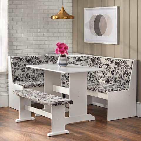 Simple Living 3-piece Lacey Upholstered Nook Set