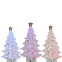 Set Of 4 Multi-Color LED Christmas Tree Holiday Lights - Green Wire - multi