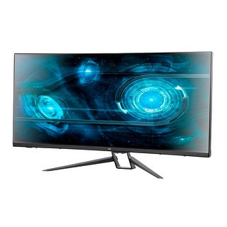 "Monoprice MP 35"" Zero-G Curved Ultrawide UWQHD Gaming Monitor FreeSync 21:9 2.0 100Hz"