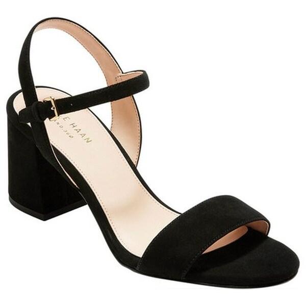 ce10f7d34b1 Shop Cole Haan Women s Josie Block Heel Sandal Black Suede - Free ...
