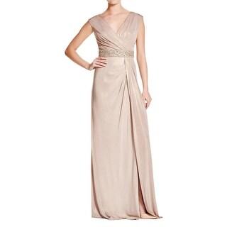 Aidan Mattox Womens Evening Dress Matte Jersey Embellished
