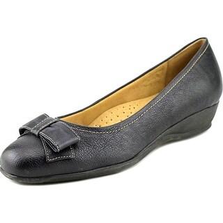 Trotters Landry Open Toe Leather Wedge Heel