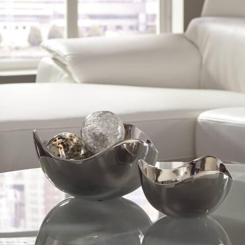 "Donato Contemporary Bowl - Set of 2 - Bowl-small: 7"" W x 7"" D x 4"" H"