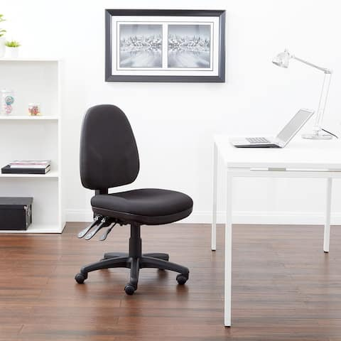 Dual-function Upholstered Cushioned Ergonomic Task Chair