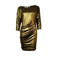 RACHEL Rachel Roy Women's Shimmer Ruched Dolman Dress