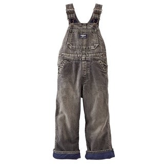 OshKosh B'gosh Baby Boys' Fleece-Lined Overalls (Black Denim)