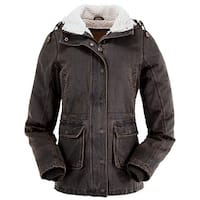 Outback Trading Jacket Womens Woodbury Removable Hood Brown