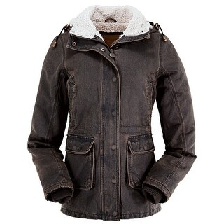 Outback Trading Jacket Womens Woodbury Removable Hood Brown 2864