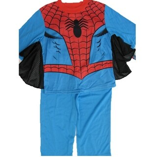 Marvel Little Boys Sky Blue Spiderman Superhero 2 Pc Pajama Set 2T-6