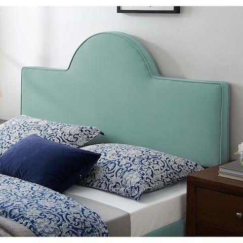 Livingston Arched Light Green Velvet Upholstered Twin Size Headboard