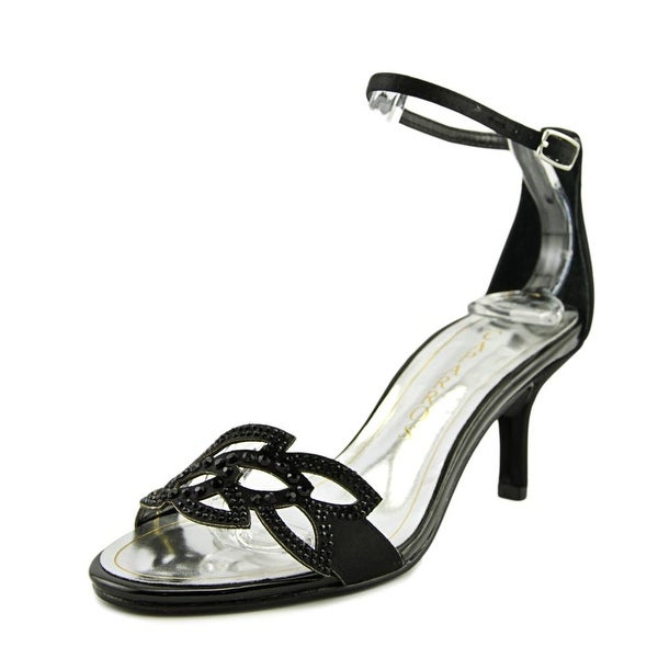 Caparros Cabaret Women Open-Toe Leather Black Heels