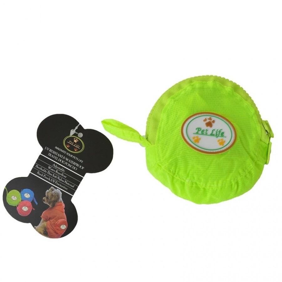 Pet Life Ultimate Waterproof Thunder-Paw Zippered Yellow Travel Dog Raincoat - Medium - (14-16 Neck to Tail)